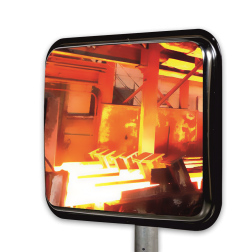 Hittebestendige industriespiegel 600x450mm Jislon, verkeerspiegel, veiligheidspiegel, veiligheidsspiegel, buitenspiegel, warmtebestendig