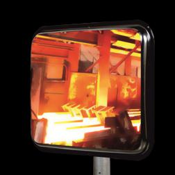 Hittebestendige industriespiegel 800x600mm Jislon, verkeerspiegel, veiligheidspiegel, veiligheidsspiegel, buitenspiegel, warmtebestendig