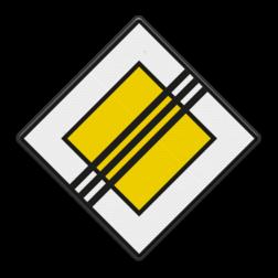 Verkeersbord Einde voorrangsweg Verkeersbord RVV B02 - Einde voorrangsweg B02 voorrangsweg, oranjebord, voorrang, vierkant bord, einde voorrangweg, einde, B2