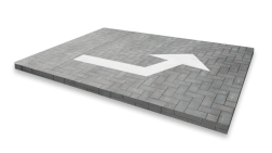 Markering pijlfiguratie 1 richting - wegenverf