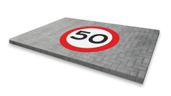 Thermoplast wegmarkering - RVV symbool rond thermoplast, wegmarkering, markering, driehoek, wegenverf, premark