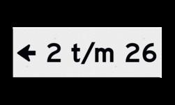 Huisnummerbord Huisnummerbord Huisnummerbord vlak 300x100mm - reflecterend klasse 3 Huisnummerbord, NEN1772, huisnummer, 300x100