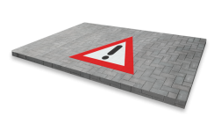 Thermoplast wegmarkering - RVV symbool driehoek thermoplast, wegmarkering, markering, driehoek, wegenverf, premark