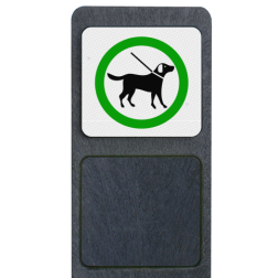 Verzwaarde bermpaal met bord 'honden aan de lijn' buitengebied, huisnummer, nummer, huis, buiten, gebied, paal, Modern, huisnummerbord, Huisnummerpaal, Huisnummerpalen, honden, aan, de, lijn, bermpaal, bermplank, aangelijnd, aanlijnen, hondenpoep, honden, poep, uitlaat, uitlaten, uitlaatplek,