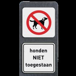 Product verboden voor honden / honden niet toegestaan Verzwaarde bermpaal met bordjes honden niet toegestaan buitengebied, huisnummer, nummer, huis, buiten, gebied, paal, Modern, huisnummerbord, Huisnummerpaal, Huisnummerpalen, honden, aan, de, lijn, bermpaal, bermplank, aangelijnd, aanlijnen, hondenpoep, honden, poep, uitlaat, uitlaten, uitlaatplek, hondenuitlaatplaats, hondenuitlaatplek, uitlaten, uitlaatplaats, uitlaatplek