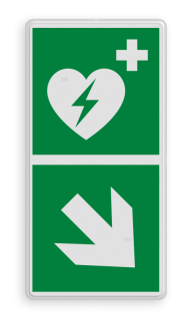 Reddingsbord E010 - AED aanwezig Reddingsbord E010 - AED aanwezig + pijl E010, AED aanwezig, AED, veiligheid, bord, instructie, redding, evacuatie, vlucht, route, vluchtroutebord, reddingsmiddelbord, evacuatie, evacuatiebord, veiligheidspictogram, veiligheidsbord, Nooduitgang pictogrammen, Vluchtrouteaanduiding, Verzamelplaats pictogram, Reddingspictogram, nooduitgang symbool, teken, icoon, symbolen, reddingsborden, bhv bord