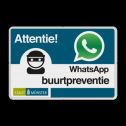 WhatsApp Nachbarschafsschutz mit eigenem Logo L209wa Whats App, WhatsApp, watsapp, preventie, attentie, buurt, L209, wijkpreventie, straatpreventie, dorpspreventie