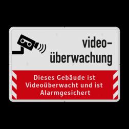 Dieses Gebäude ist Videoüberwacht - Verkehrsschild cameraregistratie, camera, bewaking, eigen terrein, beveiliging, videoregistratie, BP04, Preventie, Toezicht, Dieses, Gebäude, Videoüberwacht, Verkehrsschild