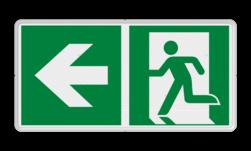 Product E001 - E002 richting nooduitgang Vluchtroute bordje E001 / E002 - Vluchtroute + pijl Vluchten, nooduitgang, uitgang, veiligheid, route, E001, E002, vluchtroutebord, reddingsmiddelbord, evacuatie, evacuatiebord, veiligheidspictogram, veiligheidsbord, Nooduitgang pictogrammen, Vluchtrouteaanduiding, Verzamelplaats pictogram, Reddingspictogram, nooduitgang symbool, teken, icoon, symbolen, reddingsborden, bhv bord