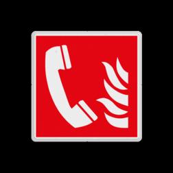 Product F006 - Telefoon voor brandalarm Brand bord F006 - Telefoon voor brandalarm Brand, trap, locatie, vuur, blussen, vluchten, brandtelefoon, brandalarm,, Brandbestrijdingsteken, brandbestrijdingspicto