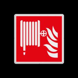 Product F002 - Blusslang Brand bord F002 - Blusslang Brand, trap, locatie, vuur, blussen, vluchten, brandblusmiddel, brandblusser, brandhaspel, Brandbestrijdingsteken, brandbestrijdingspicto