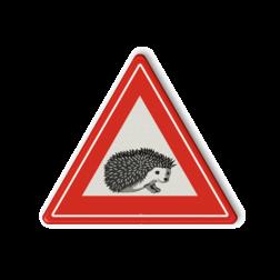 Informatiebord Overstekende poezen/katten Informatiebord overstekende egels egel, kikker
