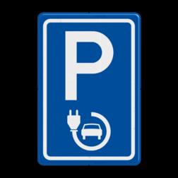 Verkeersbord elektrische auto - België E08, Parkeerbord, parkeerplaats, eigen plaats, parkeren, RVV E04, p bord, BW101 SP19 - autolaadpunt, autolaadpunt, oplaadpalen, oplaadpaal, BE04, elektrisch, Opladen, Laadpaal