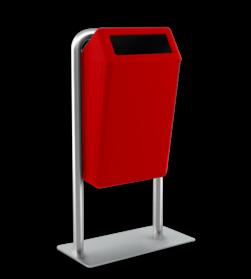 Capitole basic inclusief staanders met voetplaat Prullenbak, Prullenmand, Straatmeubilair, Park, Afvalbak, Afval,