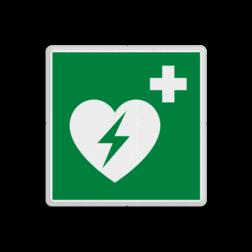Reddingsbord E010 - AED aanwezig Reddingsbord E010 - AED hartmachine, automatische externe defribillator, defribilator, vluchtroutebord, vluchtroutebord, reddingsmiddelbord, evacuatie, evacuatiebord, veiligheidspictogram, veiligheidsbord, Nooduitgang pictogrammen, Vluchtrouteaanduiding, Verzamelplaats pictogram, Reddingspictogram, nooduitgang symbool, teken, icoon, symbolen, reddingsborden, bhv bord