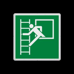 Product E016 - Vluchtraam met brandladder Vluchtroute bordje E016 - Vluchtraam met brandladder Brand, vuur, trap, hulp, help, brandweer, vuur, evacuatievenster, vluchtraam, vluchtroutebord, reddingsmiddelbord, vluchtroutebord, reddingsmiddelbord, evacuatie, evacuatiebord, veiligheidspictogram, veiligheidsbord, Nooduitgang pictogrammen, Vluchtrouteaanduiding, Verzamelplaats pictogram, Reddingspictogram, nooduitgang symbool, teken, icoon, symbolen, reddingsborden, bhv bord