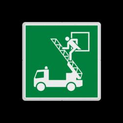 Product E017 - Vluchtraam Vluchtroute bordje E017 - Vluchtraam Brandweer, auto, vuur, locatie, evaluatievenster, vluchtroute, vluchtraam, vluchtroutebord, reddingsmiddelbord, vluchtroutebord, reddingsmiddelbord, evacuatie, evacuatiebord, veiligheidspictogram, veiligheidsbord, Nooduitgang pictogrammen, Vluchtrouteaanduiding, Verzamelplaats pictogram, Reddingspictogram, nooduitgang symbool, teken, icoon, symbolen, reddingsborden, bhv bordevaluatiebord