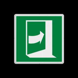 Product E023 - Deur opent door rechts te drukken Vluchtroute bordje E023 - Deur opent door rechts te drukken vluchten, deuren, rechter escape, vluchtdeur, vluchtroutebord, reddingsmiddelbord, vluchtroutebord, reddingsmiddelbord, evacuatie, evacuatiebord, veiligheidspictogram, veiligheidsbord, Nooduitgang pictogrammen, Vluchtrouteaanduiding, Verzamelplaats pictogram, Reddingspictogram, nooduitgang symbool, teken, icoon, symbolen, reddingsborden, bhv bord