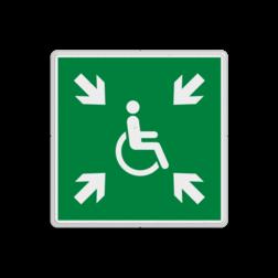 Product E024 - Tijdelijke verzamelplaats voor evacuatie Verzamelplaats bord BHV tijdelijk voor evacuatie E024 - Vluchtroute Tijdelijk, verzamelen, veilig, hulpbehoevenden, vluchtroutebord, reddingsmiddelbord, evacuatie, evaluatiebord, vluchtroutebord, reddingsmiddelbord, evacuatie, evacuatiebord, veiligheidspictogram, veiligheidsbord, Nooduitgang pictogrammen, Vluchtrouteaanduiding, Verzamelplaats pictogram, Reddingspictogram, nooduitgang symbool, teken, icoon, symbolen, reddingsborden, bhv bord