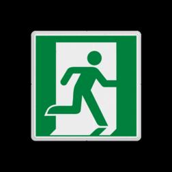 Product E002 - Nooduitgang rechts Vluchtroute bordje E002 - Nooduitgang rechts Nooduitgang, vluchtroute, route, deur, rechts, vluchtroutebord, reddingsmiddelbord, vluchtroutebord, reddingsmiddelbord, evacuatie, evacuatiebord, veiligheidspictogram, veiligheidsbord, Nooduitgang pictogrammen, Vluchtrouteaanduiding, Verzamelplaats pictogram, Reddingspictogram, nooduitgang symbool, teken, icoon, symbolen, reddingsborden, bhv bord