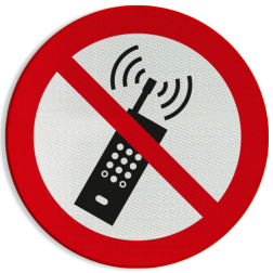 Verbodsbord P013 - Mobiele telefoon verboden Verbodsbord P013 - Mobiele telefoon verboden Smartphone, GSM, Telefoon, verboden, mobiel,