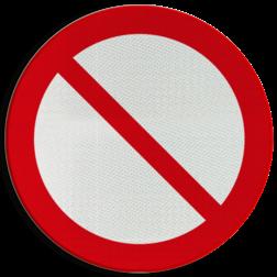 Product Algemeen verbod. (Alleen gebruiken als er geen passend symbool aanwezig is. Altijd met tekst combineren) Pictogram P001 - Algemeen verbod P001 Algemeen, verbod, verboden,  pictogram, symbool, teken, NEN, 7010,  reflecterend, sticker, klasse 1, klasse 3, vlak, bordje, paneel, kunststof, aluminium, veiligheid, verbod,