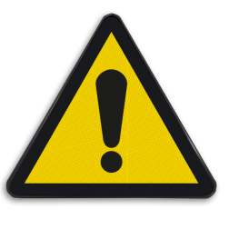 Waarschuwingsbord W001 - Algemeen gevaar Waarschuwingsbord W001 - Algemeen gevaar Algemeen, waarschuwing, pas op, let op, algemeen gevaar