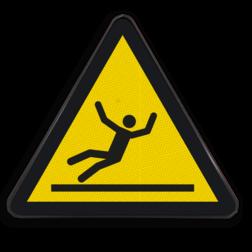 Waarschuwingsbord W011 - Gevaar voor glad oppervlak Waarschuwingsbord W011 - Gevaar voor glad oppervlak Glad, vloer, uitglijden, uitglijdings gevaar