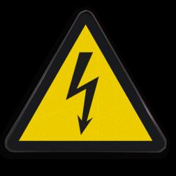 Waarschuwingsbord W012 - Gevaar voor elektrische spanning Waarschuwingsbord W012 - Gevaar voor elektrische spanning Elektrische, spanning, gevaar, brand, stroom