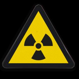 Product Gevaar voor radioactief materiaal Pictogram W003 - Gevaar voor radioactief materiaal W003 Radio-active, Radio actief, aktief, radio, ioniserend straling, atoom
