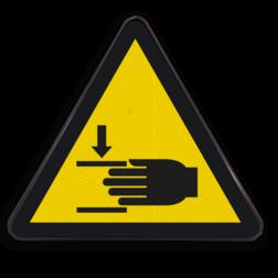 Product Klemgevaar voor handen Pictogram W024 - Klemgevaar voor handen W024 hand, handen, insteken, insteken, klem, vastzitten, beklemming, beklemd, geklemd, bekneld, gevaar voor handen, beknelling