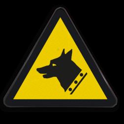 Product Gevaar voor waakhond Pictogram W013 - Gevaar voor waakhond W013 Waakhond, Honden, Bewaking, Hond