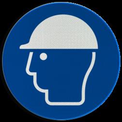 Gebodsbord M014 - Veiligheidshelm verplicht Gebodsbord M014 - Veiligheidshelm verplicht NEN7010, veiligheidspictogram, hoofdbescherming