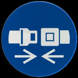 Product Gordel dragen verplicht Pictogram M020 - Gordel dragen verplicht M020 NEN7010, veiligheidspictogram, gordel, verplicht, auto