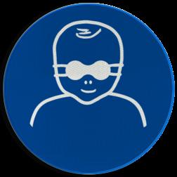Product Opaak oogbescherming verplicht voor kinderen Pictogram M025 - Opaak oogbescherming verplicht voor kinderen M025 NEN7010, veiligheidspictogram, bril, bescherming, gezicht, ogen, oog, veiligheidsbril, ondoorzichtig, kinderen, jongeren