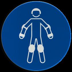 Product Draag beschermende rollersportuitrusting Pictogram M049 - Draag beschermende rollersportuitrusting M049 NEN7010, veiligheidspictogram, overal, werkkleding, kleding, bescherming, rolschaatsen, helm, kniebeschermers, beschermers, skaten,
