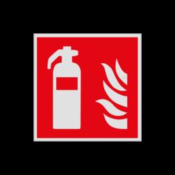 Product Blusapparaat Pictogram F001 - Blusapparaat F001 Brand, trap, locatie, vuur, blussen, vluchten, brandblusapparaat, blusmiddel, Blusapparaatpicto, Brandbestrijdingsteken, brandbestrijdingspicto, poederblusser, schuimblusser, Koolzuursneeuwblusser