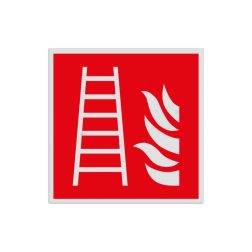 Product Ladder Pictogram F003 - Ladder F003 Brand, trap, locatie, vuur, blussen, vluchten, brandweerladder, ladder, Brandbestrijdingsteken, brandbestrijdingspicto