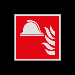 Product Brandbestrijdingsmiddelen Pictogram F004 - Brandbestrijdingsmiddelen F004 Brand, trap, locatie, vuur, blussen, helm, brandweerhelm, vluchten, blusmiddel, brandblusser, Brandbestrijdingsteken, brandbestrijdingspicto