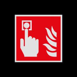Product Brandmelder Pictogram F005 - Brandmelder F005 Brand, trap, locatie, vuur, blussen, vluchten, brandmelder, brandknop, Brandbestrijdingsteken, brandbestrijdingspicto