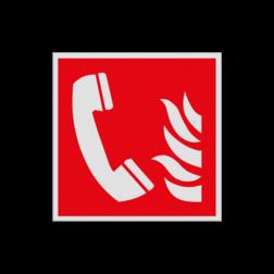 Product Telefoon voor brandalarm Haaks bord F006 - Telefoon voor brandalarm F006 Brand, trap, locatie, vuur, blussen, vluchten, brandblusapparaat, blusmiddel, Blusapparaatpicto, Brandbestrijdingsteken, brandbestrijdingspicto, poederblusser, schuimblusser, Koolzuursneeuwblusser