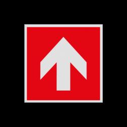 Product F000 - Pijl richting brandbestrijdingsmiddel Pictogram FOOO - Pijl omhoog brandbestrijdingsmiddel Brand, trap, locatie, vuur, blussen, vluchten, brandkraan, bluswaterput, brandput, Brandbestrijdingsteken, brandbestrijdingspicto