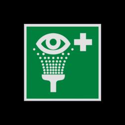 Product Oogdouche Pictogram E011 - Oogdouche E011 Ogen, Douchen, veiligheid, oog reiniging, oogspoeling, vluchtroutebord, reddingsmiddelbord, evacuatie, evacuatiebord, veiligheidspictogram, veiligheidsbord, Nooduitgang pictogrammen, Vluchtrouteaanduiding, Verzamelplaats pictogram, Reddingspictogram, nooduitgang symbool, teken, icoon, symbolen, reddingsborden, bhv bord