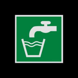 Product Drinkbaar water Pictogram E015 - Drinkbaar water E015 Water, drinken, kraanwater, schoon water, vluchtroutebord, reddingsmiddelbord, evacuatie, evacuatiebord, veiligheidspictogram, veiligheidsbord, Nooduitgang pictogrammen, Vluchtrouteaanduiding, Verzamelplaats pictogram, Reddingspictogram, nooduitgang symbool, teken, icoon, symbolen, reddingsborden, bhv bord