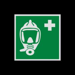 Product Ademhalingsapparaat voor noodevacuatie Pictogram E029 - Ademhalingsapparaat voor noodevacuatie E029 Zuurstof, beademing, benauwd, apparaat, masker, vluchtroutebord, reddingsmiddelbord, evacuatie, evacuatiebord, veiligheidspictogram, veiligheidsbord, Nooduitgang pictogrammen, Vluchtrouteaanduiding, Verzamelplaats pictogram, Reddingspictogram, nooduitgang symbool, teken, icoon, symbolen, reddingsborden, bhv bord