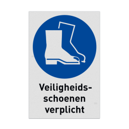 Product M008 - Veiligheidsschoenen verplicht Pictogram M008 - Veiligheidsschoenen verplicht NEN7010, veiligheidspictogram, laarzen, verplicht, beschermend schoeisel, werklaarzen