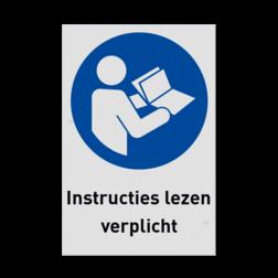 Pictogram M002 - Instructies lezen verplicht NEN7010, veiligheidspictogram, Instructie, lezen, boek, handleiding