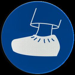 Product Overschoenen verplicht Pictogram MG24 - Overschoenen verplicht MG24 veiligheidspictogram, Gebodspictogram, schoen, overschoen, plastic schoen,