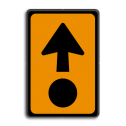 Verkeersbord Route voor het vervoeren van bepaalde gevaarlijke stoffen. Verkeersbord RVV K14 - Gevaarlijke stoffen BW K14