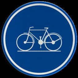 Verkeersbord D07: Verplicht fietspad Verkeersbord België D7 - Verplicht fietspad D7 fietspad, verplicht, fietsen, G11